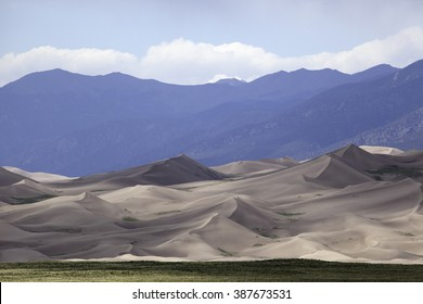 Sand dunes at the Great Sand Dunes National Park.