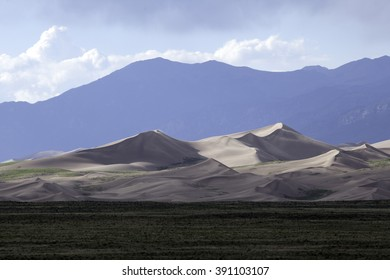 Sand dunes at the Great Sand Dunes National Park in Colorado.