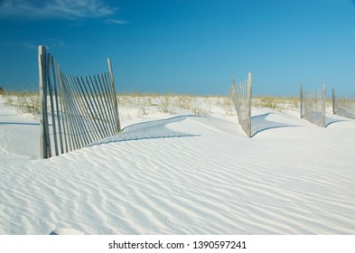 Sand dunes in Gulf State Park, Gulf Shores, Alabama, USA.