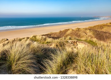 The sand dunes at Gwithian Towans Cornwall England UK Europe