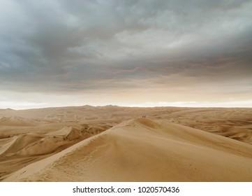 Sand Dunes of Ica Desert near Huacachina, Ica Region, Peru