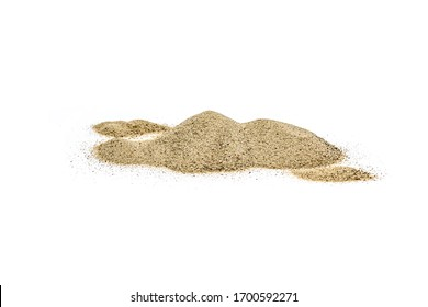 Sand dunes isolated on white background.