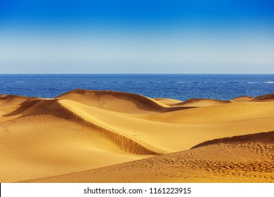 Sand dunes of Maspalomas, Gran Canaria, Canary Islands, Spain