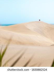 Sand dunes in Maspalomas, Gran Canaria