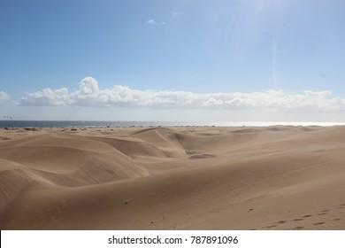 The Sand Dunes of Maspalomas, Gran Canaria on 18.12.2017