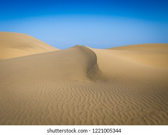 Sand dunes of Maspalomas at the Island of Gran Canaria