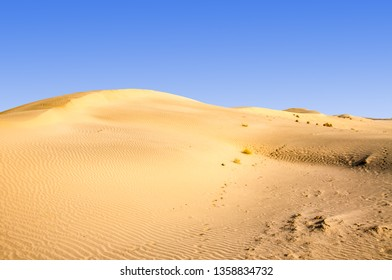 Sand dunes in the Namibia Africa