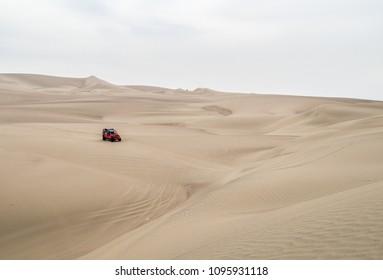 Sand dunes near Huacachina, Peru