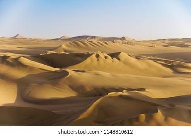 Sand dunes near Huacachina in Peru