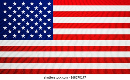 sand dunes on the american flag