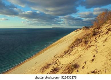 Sand dunes on lake Michigan/sleeping bear dunes