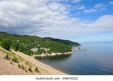 Sand dunes in the region of Charlevoix, Quebec, Canada.