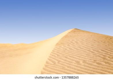 Sand dunes in the Sahara desert in the Libya