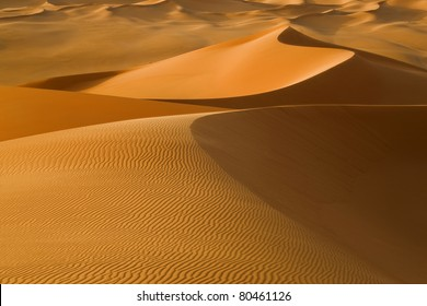 Sand dunes in the Sahara Desert, Libya.