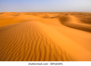 Sand dunes in the Sahara desert, Tagounite, Morocco