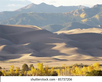 Sand dunes in southeastern Colorado during Autumn