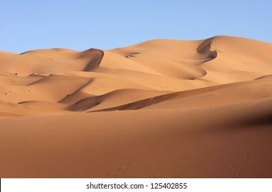 sand dunes view on eastern Sahara desert