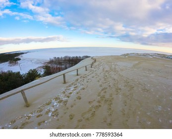 Sand dunes in winter, Nida, Lithuania