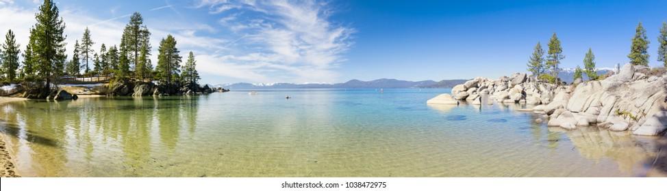 Sand Harbor beach panorama, Lake Tahoe