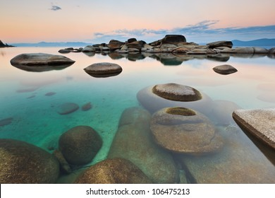 Sand Harbor in Lake Tahoe, Nevada is a very zen like experience, especially early in the morning.