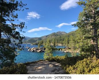 Sand Harbor, Lake Tahoe in summer