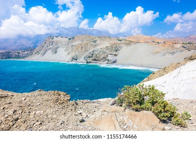 Sand hills in Agios Pavlos beach, south Crete, Greece.