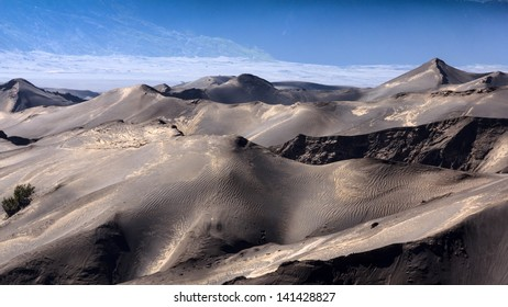 The sand mountain near volcano is line pattern interesting