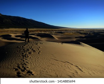 Sand and mountains at Great Sand Dunes National Park in Colorado, United States