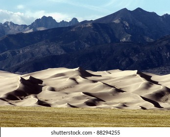 Sand and mountains at Great Sand Dunes National Park in Colorado