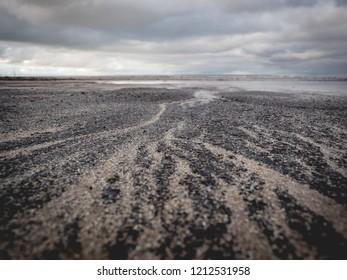 sand patterns at minehead beach