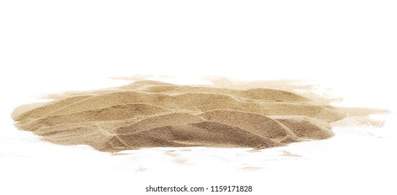 sand pile isolated on white background