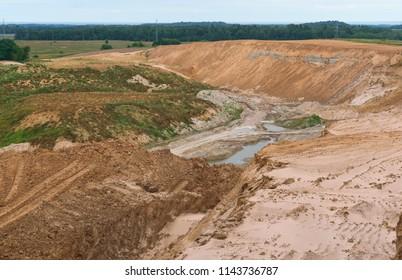 sand quarry, sand quarry destroying the environmen