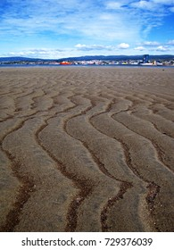 Sand ripple on beach in Punta Arenas, Patagonia - Chile