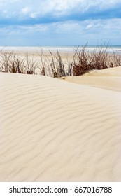 Sand ripples made by the wind in the sand dunes of De Panne, Belgium.