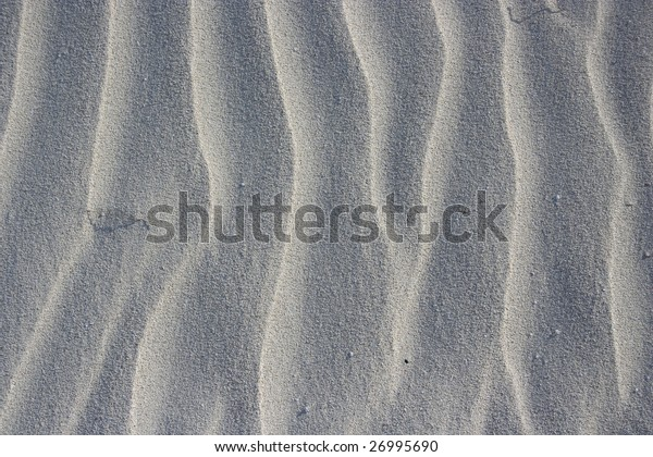 The sand shows the nice ripple texture.