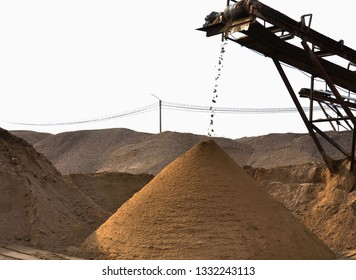 Sand. Sifting sand.
