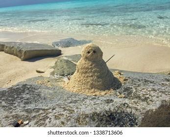 Sand Snowman on Norman's Cay