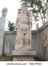 Sand stone of warlord Guan Yu.
