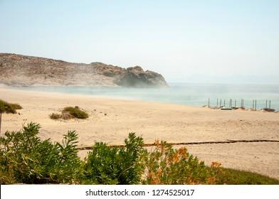 Sand storm in Samothraki