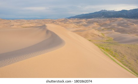 Sand Swept Wave In Great Sand Dunes National Park