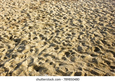 Sand texture background.Sand pattern of the beach in summer.