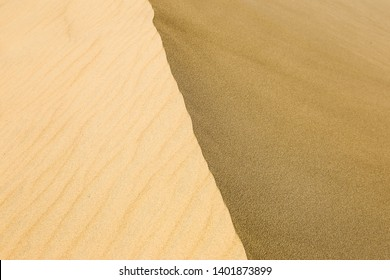 Sand texture of sand on desert dune