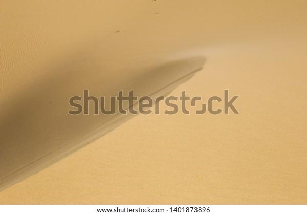 Sand texture of sand on desert dune