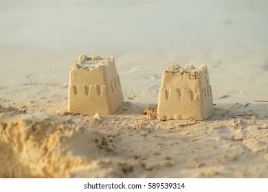 Sand Towers at the Beach