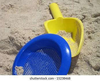 Sand toys at beach