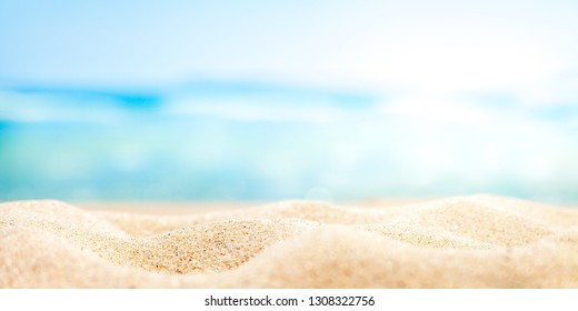 Sand Water And Sky With Soft Light