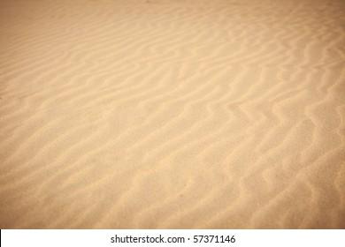 Sand waves on the beach