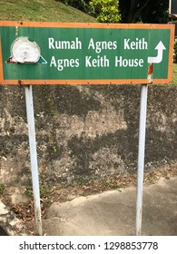 SANDAKAN, SABAH - JAN 29, 2019 : Agnes Keith house, a popular tourist destination and most historical places to visited in Sandakan, Sabah. A colonial style concept of traditional buildings.
