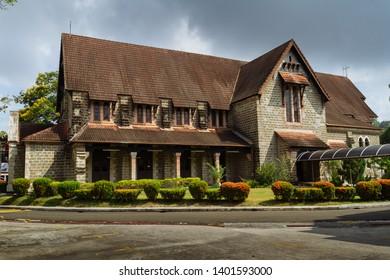 Sandakan, Sabah, Malaysia - March 17 2016: St. Michael Church, an Anglican Church in Sandakan