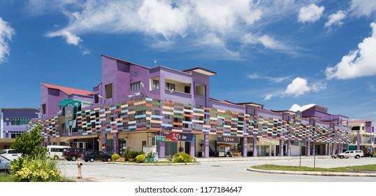 Sandakan, Sabah, Malaysia - May 26 2014: Best Western Hotel Sandakan, next to the temporary Long Distance Bus Terminal at Leetat Industrial Estate in Sandakan, next to Labuk Road.
